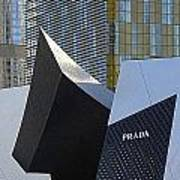 Prada Las Vegas Abstract Poster