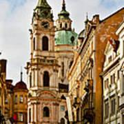 Prague - St. Nicholas Church Lesser Town Poster by Christine Till