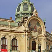 Prague Obecni Dum - Municipal House Poster by Christine Till