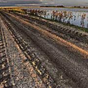 Prairie Road Storm Clouds Mud Tracks Poster