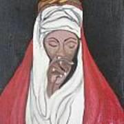 Praying Woman-oil Painting Poster by Rejeena Niaz