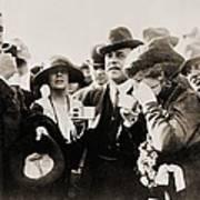 President And Mrs. Harding Entertain Poster by Everett