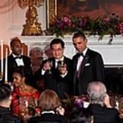 President Barack Obama And President Hu Poster by Everett