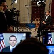 President Barack Obama Conducting Poster