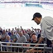 President Barack Obama Greets Baseball Poster by Everett