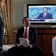 President Barack Obama In Front Poster by Everett