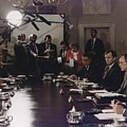 President Bush Participates In A Full Poster