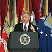 President Clinton Delivers An Poster