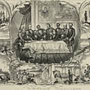 President Grant With Group Of Men Poster by Everett