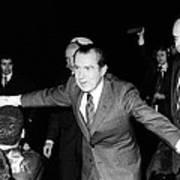 President Richard Nixon Extends Himself Poster