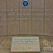 President Ronald Reagan Resting Place Poster