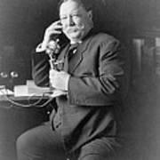 President William Taft 1857-1930 Using Poster by Everett