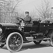 Presidents Tafts,white Touring Car That Poster
