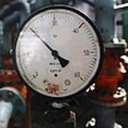 Pressure Dial, Natural Gas Industry Poster