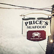 Price's Seafood Poster