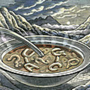 Primordial Soup Poster by Bill Sanderson