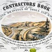 Print Shows Construction Of A Railroad Poster