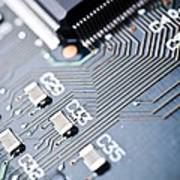 Printed Circuit Board Components Poster by Arno Massee