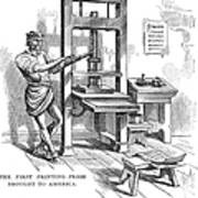 Printing Press, 1639 Poster