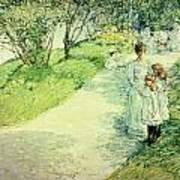 Promenaders In The Garden Poster