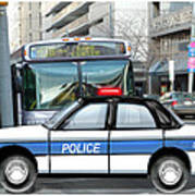 Proud Police Car In The City  Poster