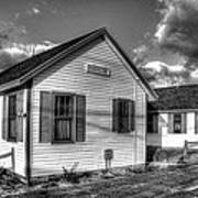 Provincetown Cottages Bw Poster