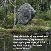 Psalm 19 V14a Poster