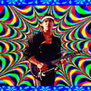 Psychedelia Within A Blue Framework Poster