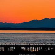 Puget Sound Sunset Poster by Sarai Rachel