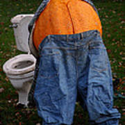 Pumpkin Butt Poster
