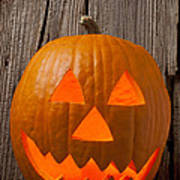 Pumpkin With Wicked Smile Poster