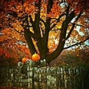 Pumpkins On The Wall Poster by Joyce Kimble Smith