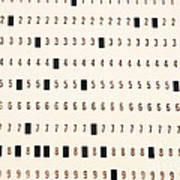 Punch Card Poster