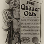 Pure Quaker Oates Poster