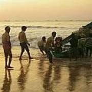 Puri Fishermen Poster