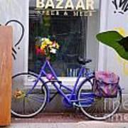 Purple Bike Poster