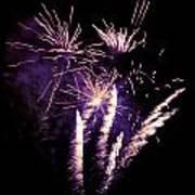 Purple Firework Poster