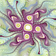 Purple Fractalishus Poster