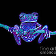 Purple Ghost Frog Poster