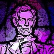 Purple Lincoln Poster