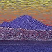 Purple Mountain Majesty Sunset Poster