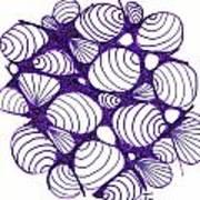 Purple Shells Poster