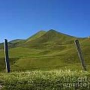 Puy De Barbier And Puy De L'angle. Auvergne. France Poster