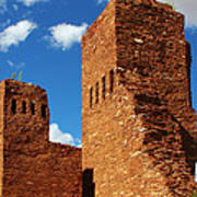 Quarai Salinas Pueblo Missions National Monument Poster by Christine Till