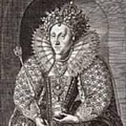 Queen Elizabeth I, English Monarch Poster