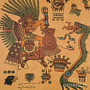 Quetzalcoatl, Aztec Feathered Serpent Poster