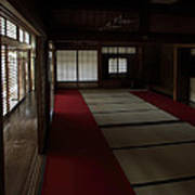 Quietude Of Zen Meditation Room - Kyoto Japan Poster by Daniel Hagerman
