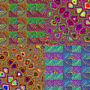 Quilted Fractals Poster