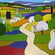 Quilted Landscape II Poster