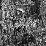 Rabelais: Gargantua And Pantagruel.  Illustration Of The Life Of Gargantua And Of Pantagruel By Fran�ois Rabelais. Wood Engraving, 1873, After Gustave Dor� Poster